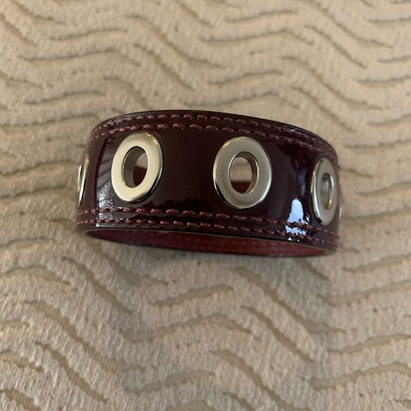 Light weight Coach leather bracelet